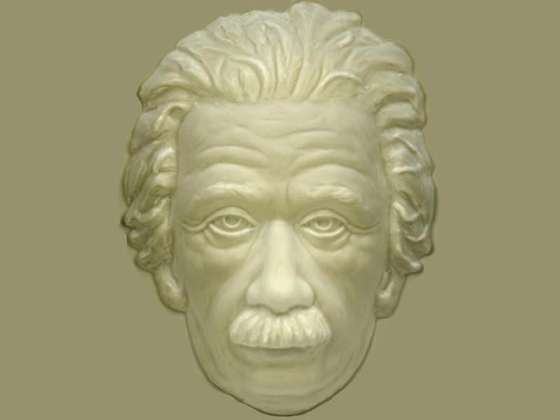 Einstein Hollow Face Illusion