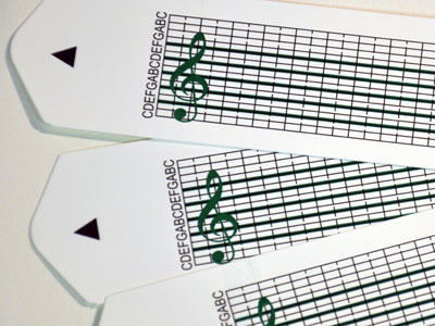 10 Blank Strips for the 15 Note Music Box Set