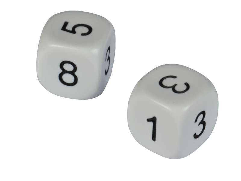 An unusual pair of dice. One has sides 1,3,4,5,6,8. The other has sides  1,2,2,3,3,4. Martin Gardner reported on the discovery of these dice by a  certain ...