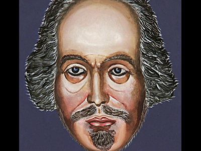 Painted Shakespeare Mask