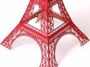 Laser-cut Paper Eiffel Tower